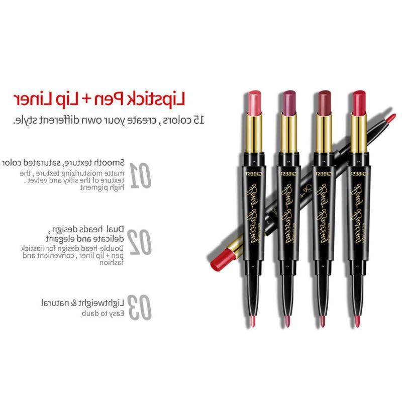 QIBEST Matte 2 1 Lipstick Lasting Liner