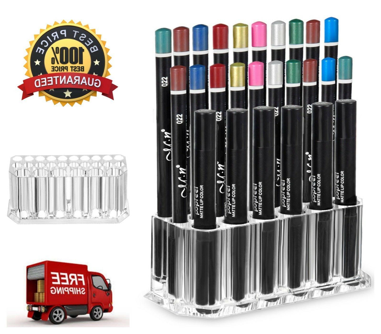 26 Slot Makeup Eyeliner Lip Liner Holder Organizer Storage D