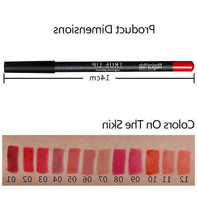 US PCS Waterproof Lip Liner Long Lasting Matte Pencil
