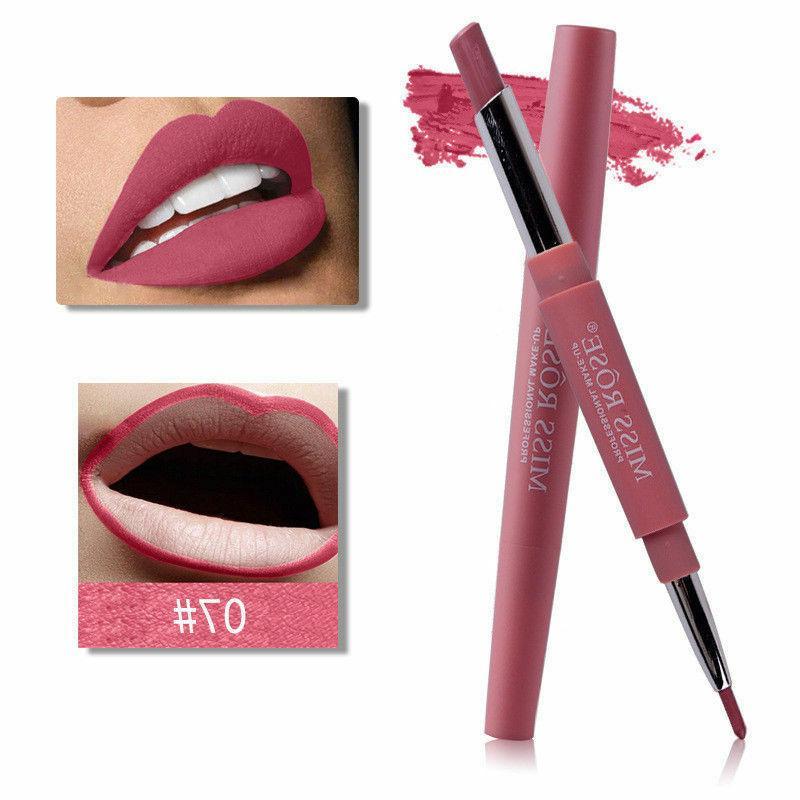 waterproof dual pencil lipstick pen matte lip
