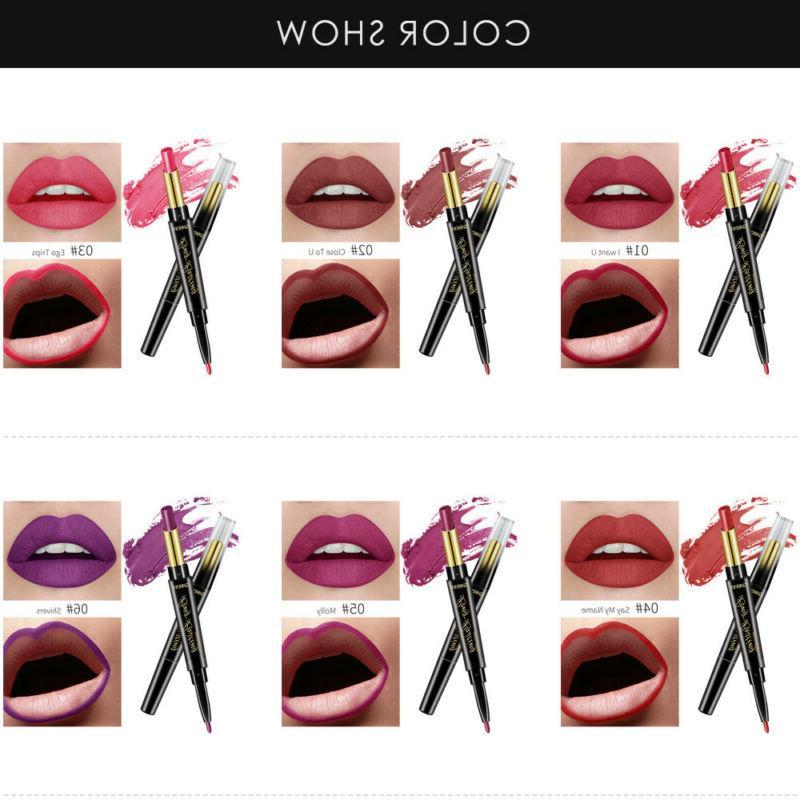 QIBEST Lipstick Pen Lip Liner Long Lasting-Makeup
