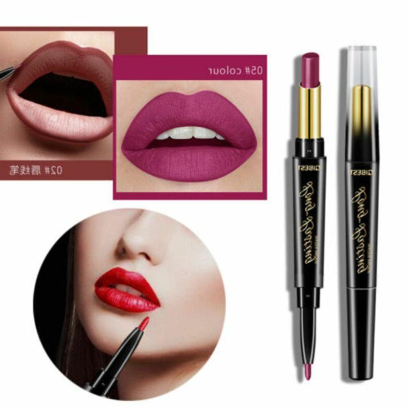 QIBEST Double-End Waterproof Lipstick Liner Long Lasting~