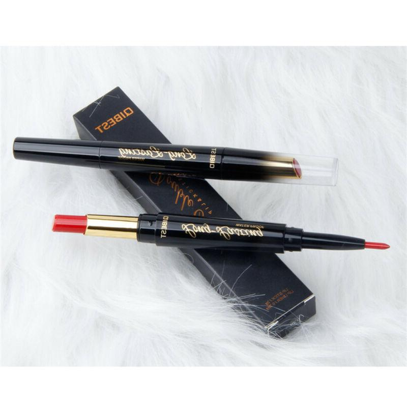 QIBEST Double-End Lipstick Liner Lasting~