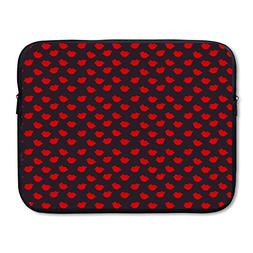Sunmoonet Laptop Case, Kisses Red Lips 13 Inch 15 Inch Lapto