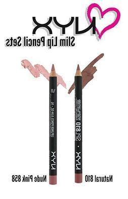 NYX Lip Pencil Set of 2, Nude Pink & Natural