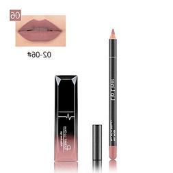 Hometom Long Lasting Lipstick Waterproof Matte Liquid Gloss