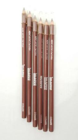 "Lot of 2 New Jordana Kohl Kajal Lip Liner Color Pencil 7"" Pe"