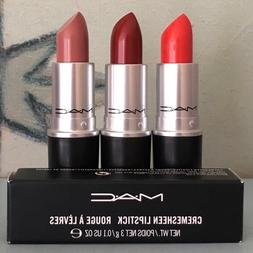 mac cremesheen satin and retro matte lipstick
