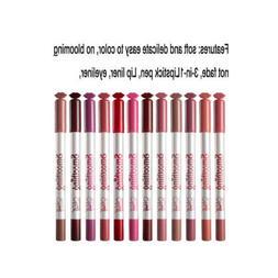 MagiDeal 12 PCS Natural Matte Lip Liner Makeup Pencil Lip Ap