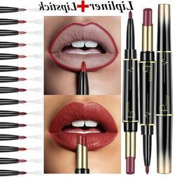 Matte Double Ended Lipstick Lip Makeup Cosmetics Nude Dark R