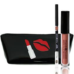 Dollup Beauty Matte Lip Liner and Lipstick Set - Includes 3