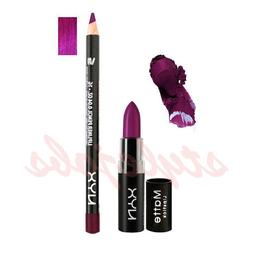 NYX Matte Lipstick ARIA MLS30 and Slim Lip Liner Purple Rain
