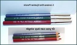 "NEW ""JORDANA"" Elegant Lip/Eye Liner Pencil Set  Terra Cotta"
