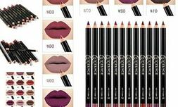 NICEFACE 12 Color Lip Pencil - Soft Waterproof Smooth Lip Li