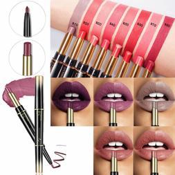 Pudaier Waterproof 2 in 1 Lipstick Stay 24Hour Gloss Lip Sti