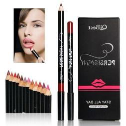 qibest 12 color professional waterproof lipliner makeup