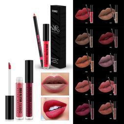 Qibest Make Up Set Matte Lipstick Waterproof Liquid Lip Glos
