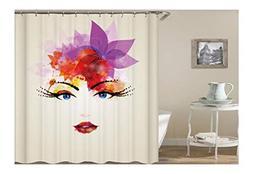 Adisaer Resistant Shower Curtain Liner Anti-Bacterial Multic