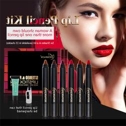NICEFACE Silky Red Lipsticks Pencils Kits+Makeup Remover <fo