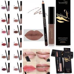 Waterproof Long Lasting Matte Liquid Lipstick Lip Liner Cosm