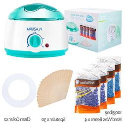 Waxing Kit, Plazuria Hair Removal Hot Paraffin Pearl Wax War