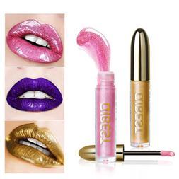 Women's Glitter Flip Metallic Matte Liquid Lipstick Candy Sh